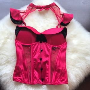 NWT Victoria's Secret red bling corset bra top!